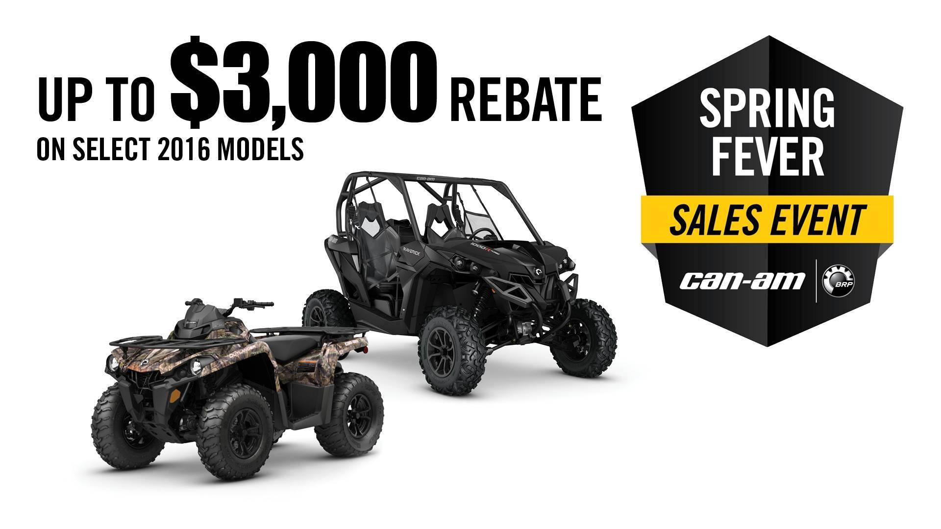 Can-Am Spring Fever Sales Event General Offer